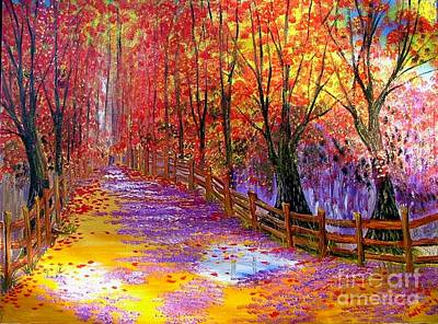 Lif Painting - Autumn Path by Inna Montano