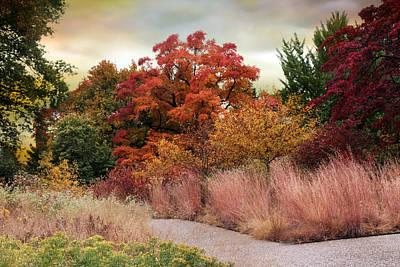 Rural Digital Art - Autumn Path by Jessica Jenney