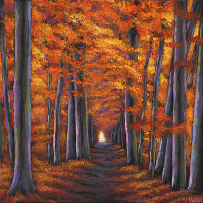 Wildflower Wall Art - Painting - Autumn Path by Johnathan Harris