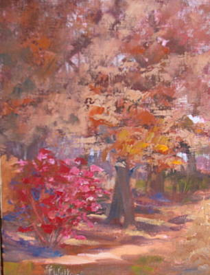 Painting - Autumn Path by Judy Fischer Walton
