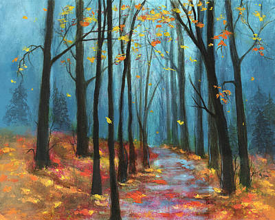 Painting - Autumn Path by Terry Webb Harshman