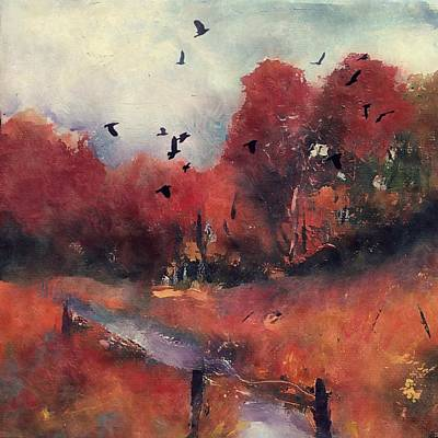 Painting - Autumn - Pathway To Winters Door by Michele Carter