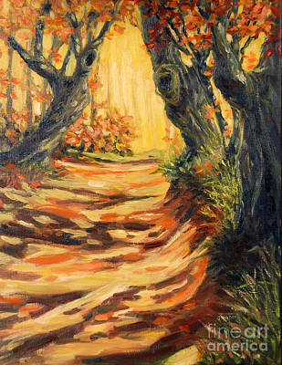 Autumn Pathways Art Print