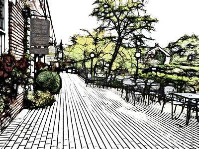 Autumn Patio Art Print