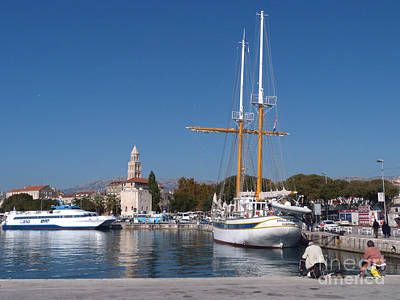 Photograph - Autumn Peace At Split Harbour by Phil Banks