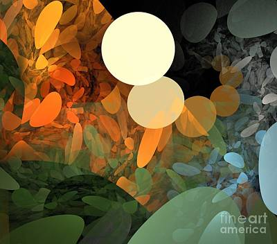 Digital Art - Autumn Pebbles by Kim Sy Ok