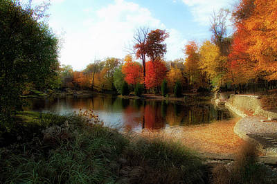 Photograph - Autumn Pond 2016 by Thomas Woolworth