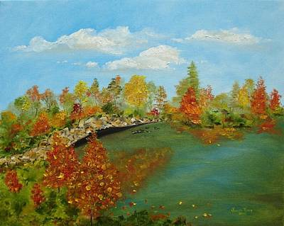 Painting - Autumn Pond by Judith Rhue