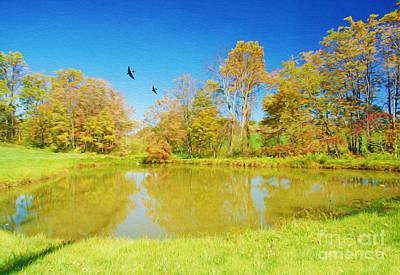 Autumn Pond Photograph - Autumn Pond by Laura D Young