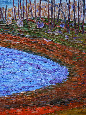 Painting - Autumn Pond by Vadim Levin