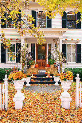 Photograph - Autumn Porch by Brian Jannsen