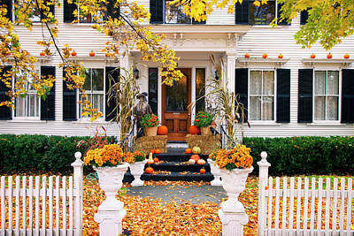Photograph - Autumn Porch II by Brian Jannsen
