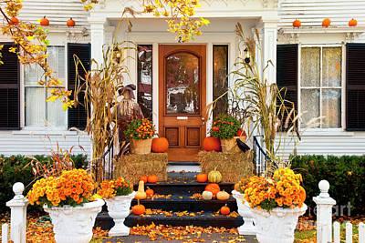 Photograph - Autumn Porch IIi by Brian Jannsen