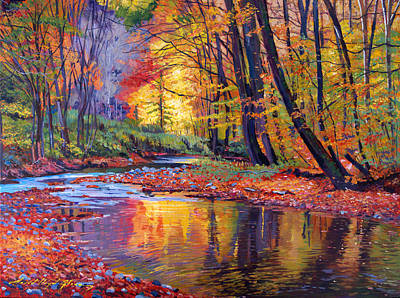 Impressionism Paintings - Autumn Prelude by David Lloyd Glover