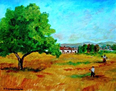 Painting - Autumn Preparing by Constantinos Charalampopoulos