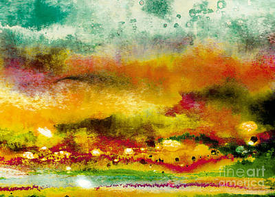 Abstract Beach Landscape Digital Art - Autumn Promise by Beate Allerton