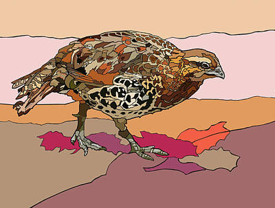 Painting - Autumn Quail by Jamie Downs