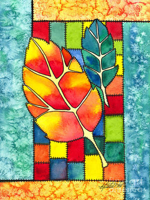 Painting - Autumn Quilt by Kristen Fox