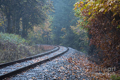 Photograph - Autumn Rails by Idaho Scenic Images Linda Lantzy