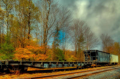 Photograph - Autumn Railway In The Adirondack Mountains by David Patterson