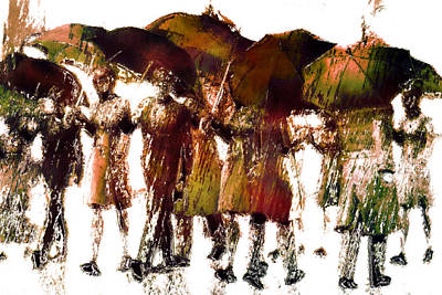 Rain Digital Art - Autumn Rain by Carol and Mike Werner