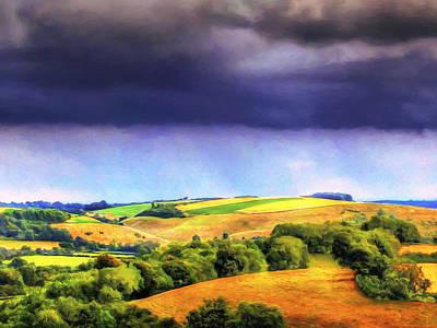 California Vineyard Painting - Autumn Rain by Dominic Piperata