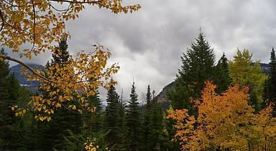 Photograph - Autumn Rain Storm Against Snowy Mountains  by Tracey Vivar
