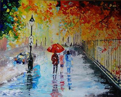 Painting - Autumn Rain by Valerie Curtiss