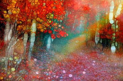 Digital Art - Autumn Rainbow by Tara Turner