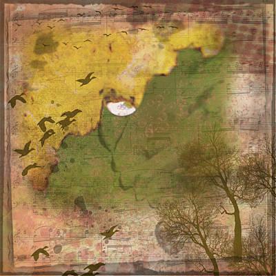 Digital Art - Autumn Raindrop by Nadine Berg