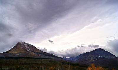 Photograph - Autumn Rainstorm Over Divide And Curly Bear Mountains by Tracey Vivar