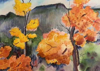 Autumn Rainy Day Art Print