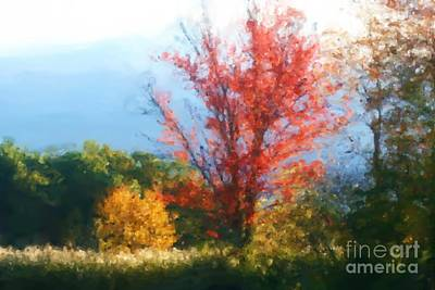 Autumn Red And Yellow Art Print by Smilin Eyes  Treasures