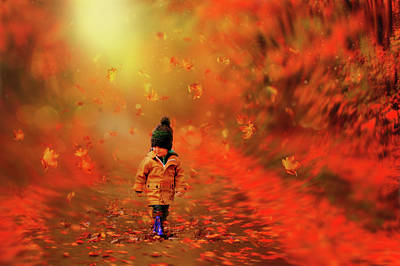 Photograph - Autumn Red by Lilia D