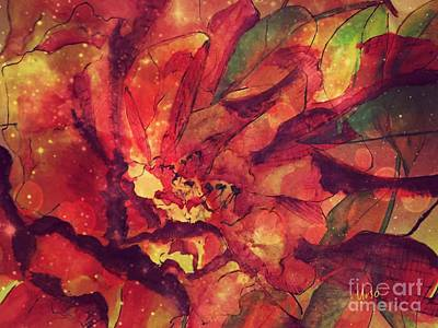 Mixed Media - Autumn Red  by Maria Urso