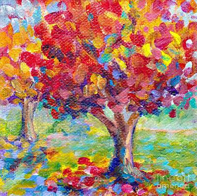 Painting - Autumn Reds By Peggy Johnson by Peggy Johnson