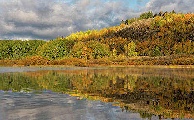 Photograph - Autumn Reflected On The Snake River by Loree Johnson