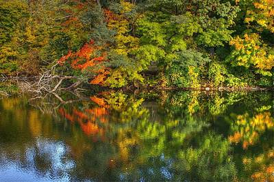Photograph - Autumn Reflection 2 by Randy Pollard