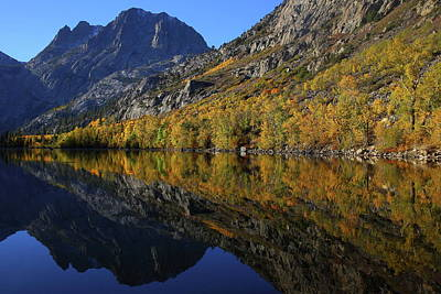 Photograph - Autumn Reflection At Silver Lake In The Eastern Sierras In Californa by Jetson Nguyen