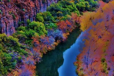 Verde River Photograph - Autumn Reflection by Helen Carson