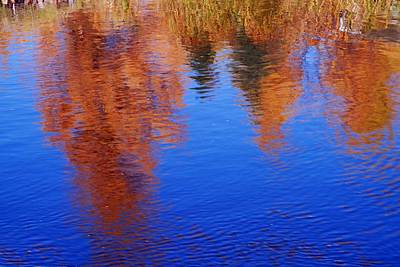 Photograph - Autumn Reflection by Larry Ricker