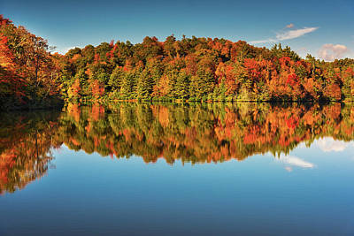Photograph - Autumn Reflection by Reid Northrup