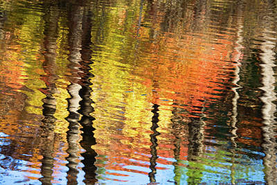 Photograph - Autumn Reflections-1 by Diane Macdonald