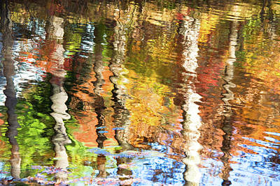 Photograph - Autumn Reflections-2 by Diane Macdonald
