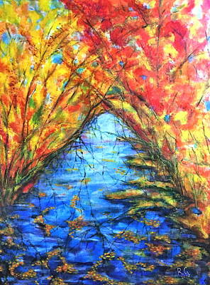 Painting - Autumn Reflections 2 by Rae Chichilnitsky