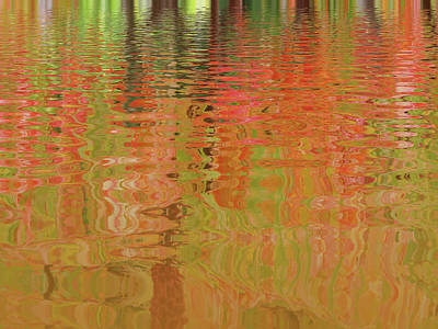 Photograph - Autumn Reflections Abstract by Gill Billington