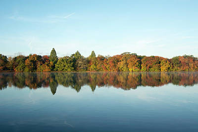Belmont Lake State Park Wall Art - Photograph - Autumn Reflections At Belmont Lake by Joan D Squared Photography