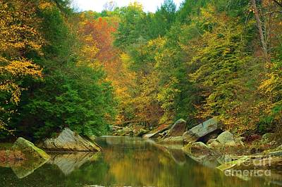 Photograph - Autumn Reflections At Mcconnels Mill by Bob Sample