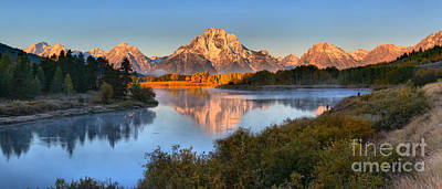 Photograph - Autumn Reflections At Oxbow Bend Panorama by Adam Jewell
