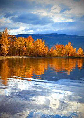 Okanagan Lake Photograph - Autumn Reflections At Sunoka by Tara Turner